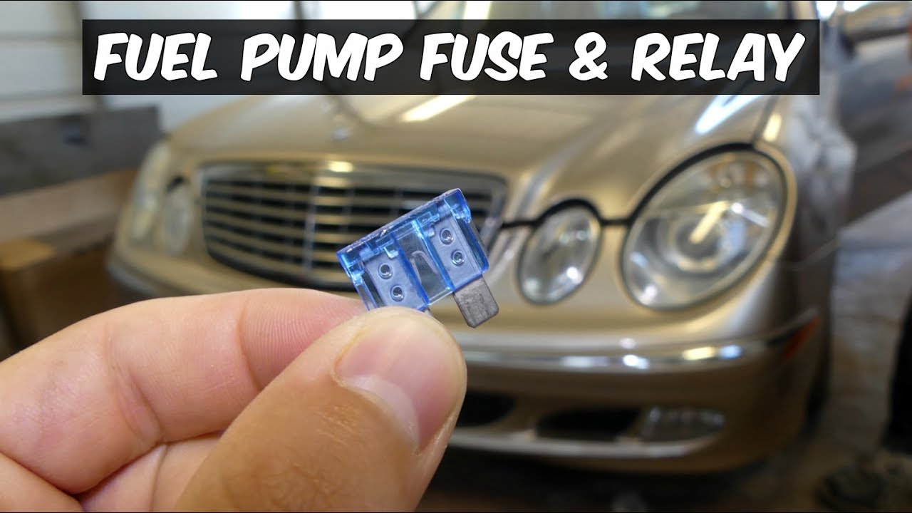 MERCEDES W211 FUEL PUMP FUSE RELAY LOCATION REPLACE  YouTube