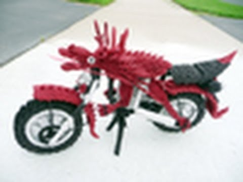 how to make an origami motorcycle