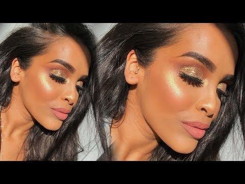 GLAM GOLD GLITTERY EYES MAKEUP TUTORIAL| NikkisSecretx thumbnail