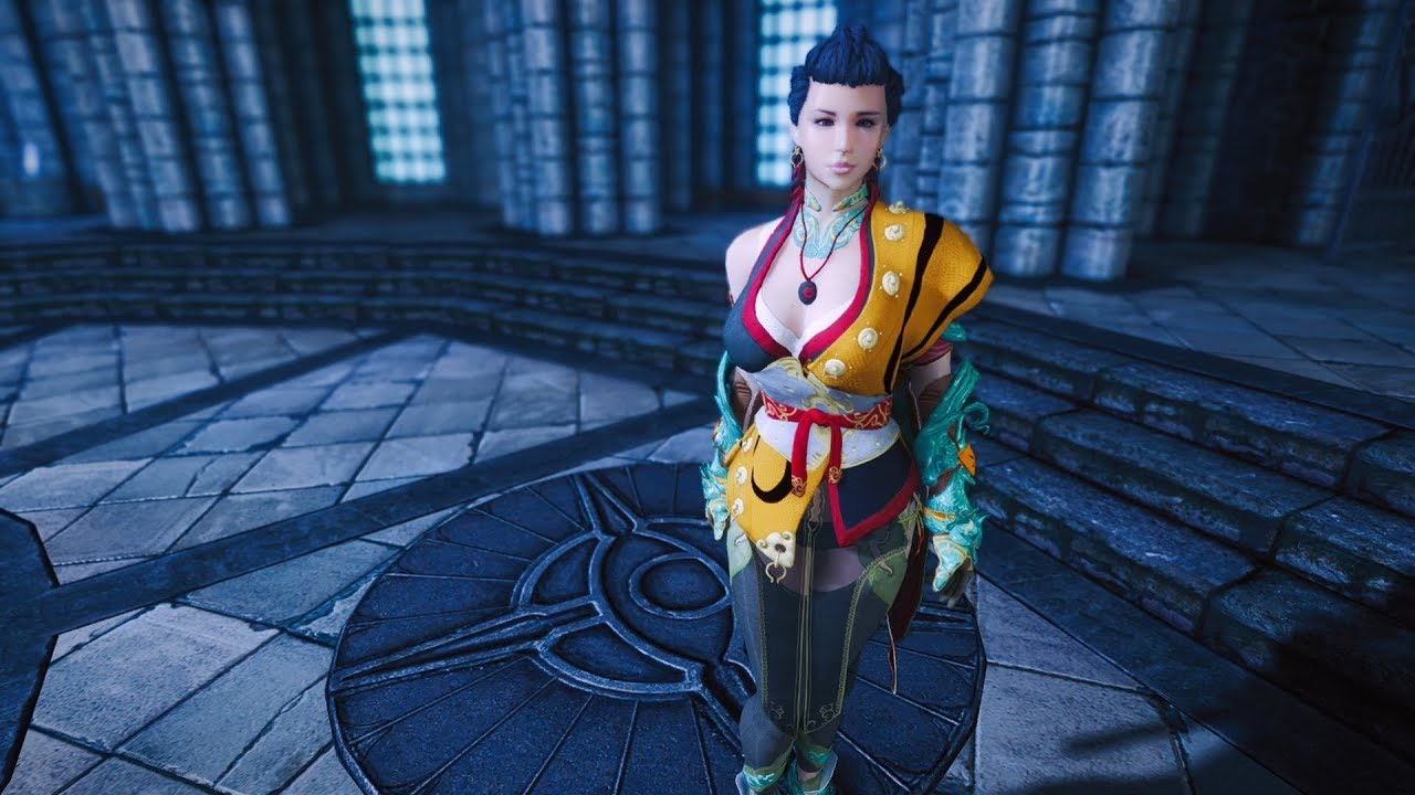 Outfit Dhyana [Mystic] from BDO HDT PE Skyrim LE for CBBE body