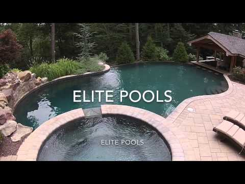 Tour a Beautiful In-ground Hot Tub and Pool from Elite Pools