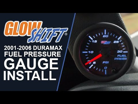 How To Install A Fuel Pressure Gauge Into A 2001-2006 Duramax