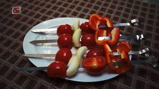 ЭЛВИН.РФ  Делаем шашлык из овощей на электрической шашлычнице от ЭЛВИН