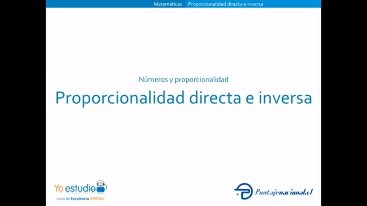 97 Proporcionalidad Directa E Inversa Youtube Proporcionalidad Directa Inversa Matematicas