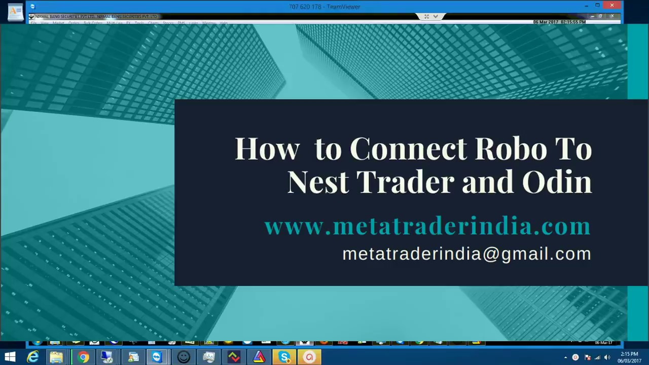 Settings to Connect Nest and Onid With Robo Trader Software - Part 4