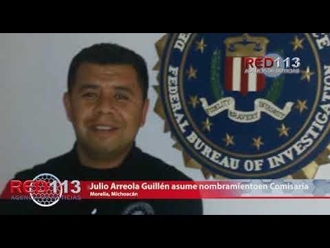 VIDEO Julio Arreola Guillén asume nombramiento como encargado de despacho de la Comisaría Municipal de Morelia