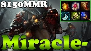 Dota 2 - Miracle- 8150MMR TOP 1 MMR in the World Plays Pudge vol 2 - Ranked Match Gameplay