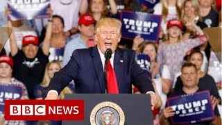 Donald Trump supporters chant 'send her back' at rally - BBC News / Видео