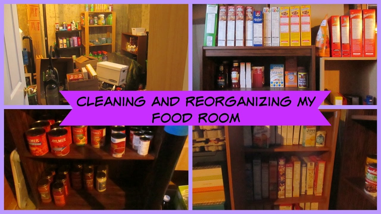 Reorganizing Room: Cleaning And Reorganizing My Food Room