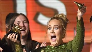 Adele Gana Grande, Llora y Hace Llorar a Beyonce en Grammys 2017