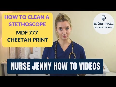 How To Clean A Stethoscope MDF 777