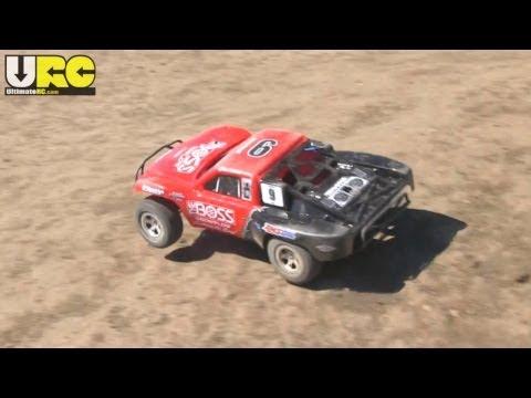 Traxxas 2WD Nitro Slash on dirt, all stock