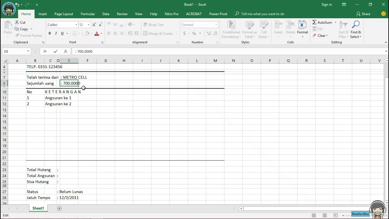How To Make A Receipt Using Microsoft Excel Firsttime