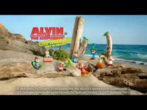 Alvin And The Chipmunks Chipwrecked Mcdonald S Commercial Youtube