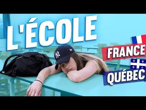 L'École Française vs Québécoise - BACK TO SCHOOL 2018 | DENYZEE