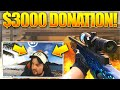 HUGE $3,000 TWITCH DONATION!  - BEST TWITCH CSGO FUNNY MOMENTS! #3 (Best FUNNY & PRO Moments!)