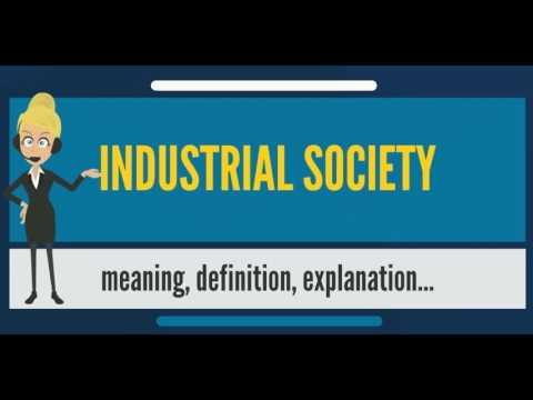 What is INDUSTRIAL SOCIETY? What does INDUSTRIAL SOCIETY mean? INDUSTRIAL SOCIETY meaning