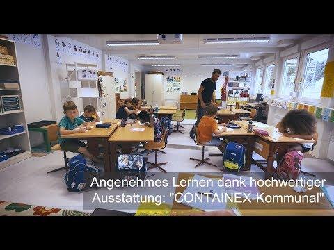 CONTAINEX Mietcontainer - Volksschule Vaduz/Liechtenstein