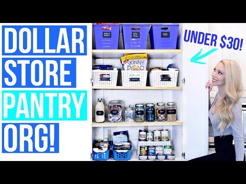 Dollar Store Pantry Organization Ideas!