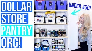 Dollar Store Pantry Organization Ideas!