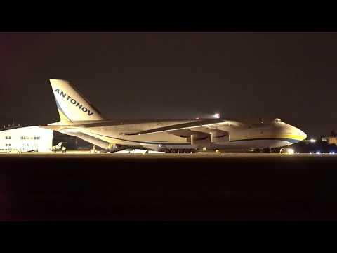 Antonov AN -124 landing in night to Bratislava - 4.7.2017