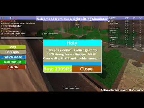 roblox dominus lifting simulator codes