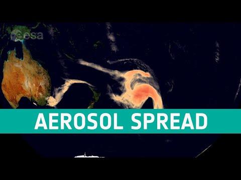 Aerosol spread from Australian fires