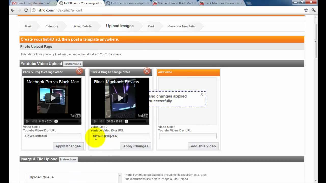 Craigslist html image gallery templates with listHD.com - YouTube