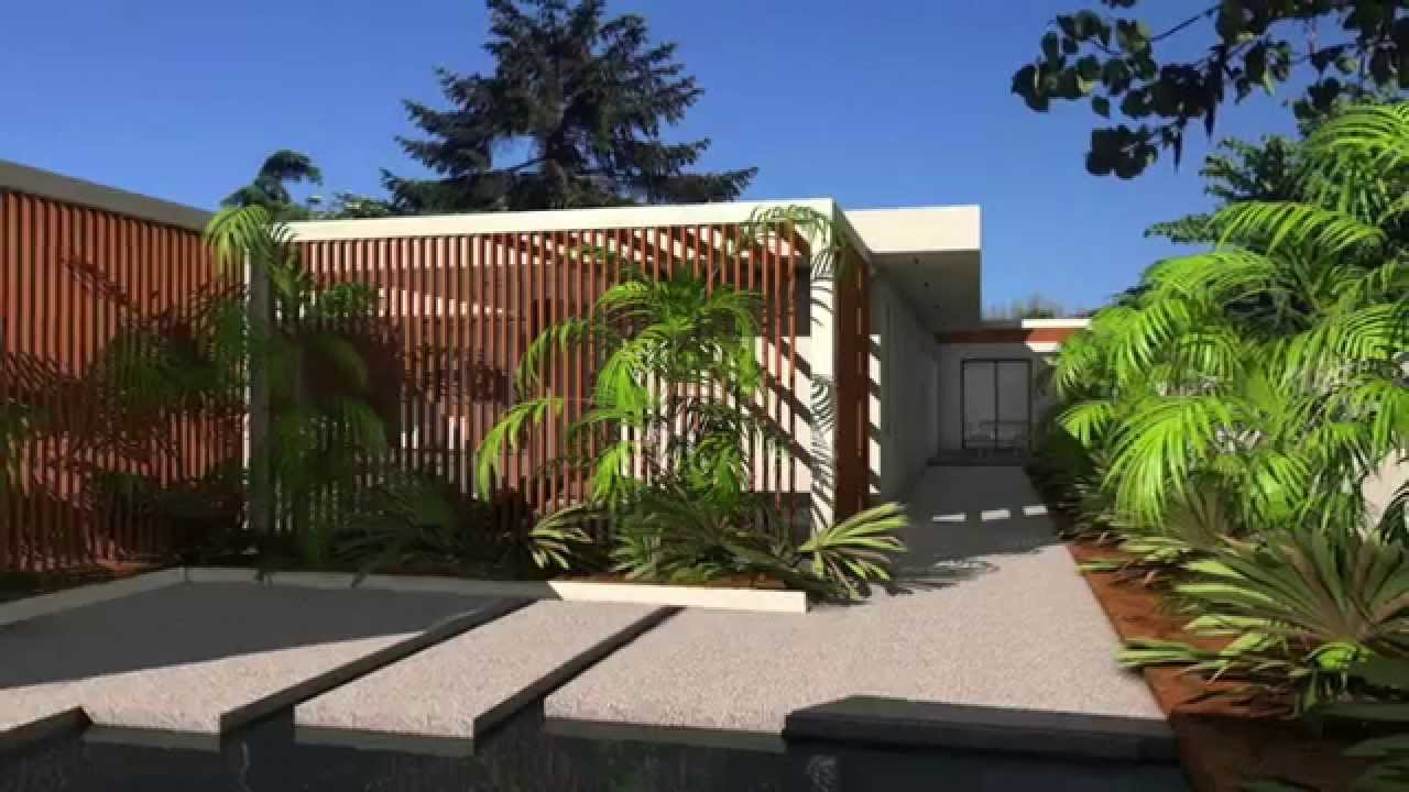Maison Californienne Toit Plat maison contemporaine d'architecte à parement pierres noires