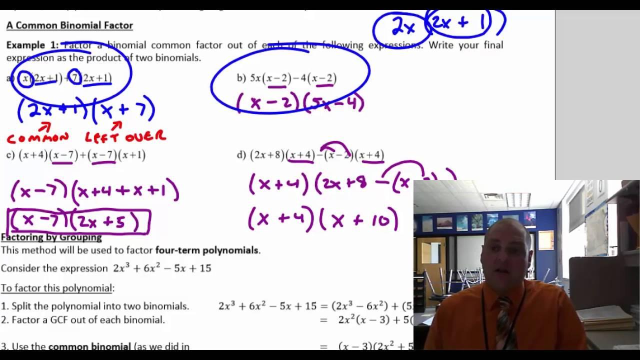 Algebra Ii Lesson 8 Factoring: Cubed Roots