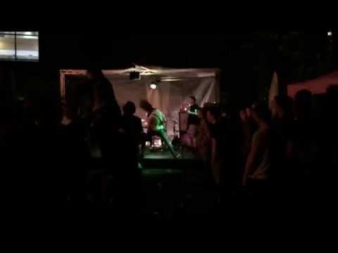 A band called HECK (baby Godzilla ) university arms Sheffield tramlines 2015
