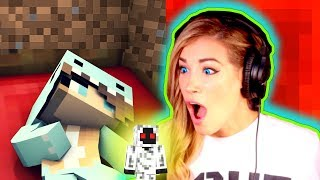 minecraft reaction psycho girl