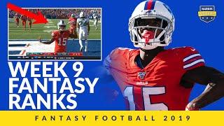 Week 9 Fantasy Football Ranks - Miles Sanders & John Brown Bust Out!