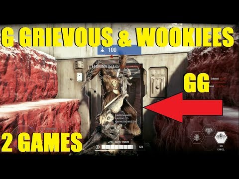Star Wars Battlefront 2 - GENERAL GRIEVOUS AND WOOKIEE WARRIORS! (2 games) thumbnail