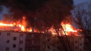 Пожар в Раменском