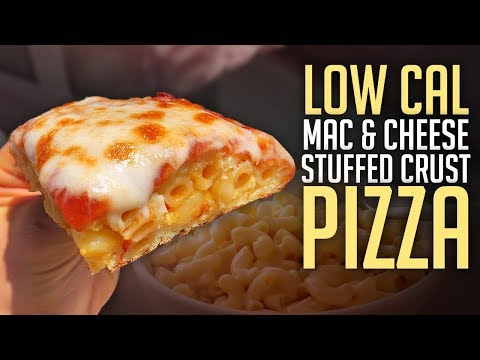 Healthy Low Cal Mac & Cheese Stuffed Pizza Recipe