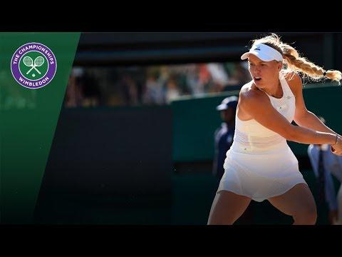 Caroline Wozniacki v Anett Kontaveit highlights - Wimbledon 2017 third round
