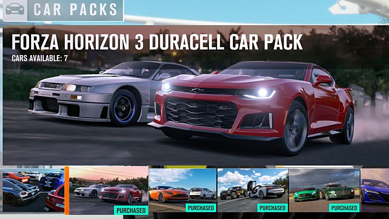 forza horizon 3 duracell car pack youtube. Black Bedroom Furniture Sets. Home Design Ideas