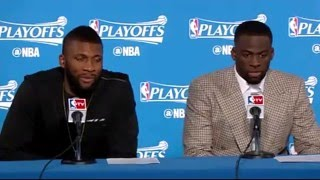 Golden State Warriors Postgame interview Game 2 NBA Playoffs Warriors vs Trail Blazers May 3, 2016