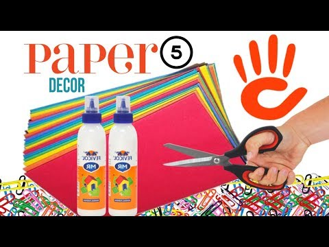Paper crafts | diy room decor | paper craft ideas for room decoration