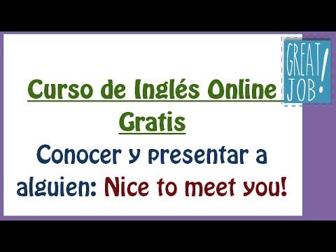 Traducir nice to meet you all