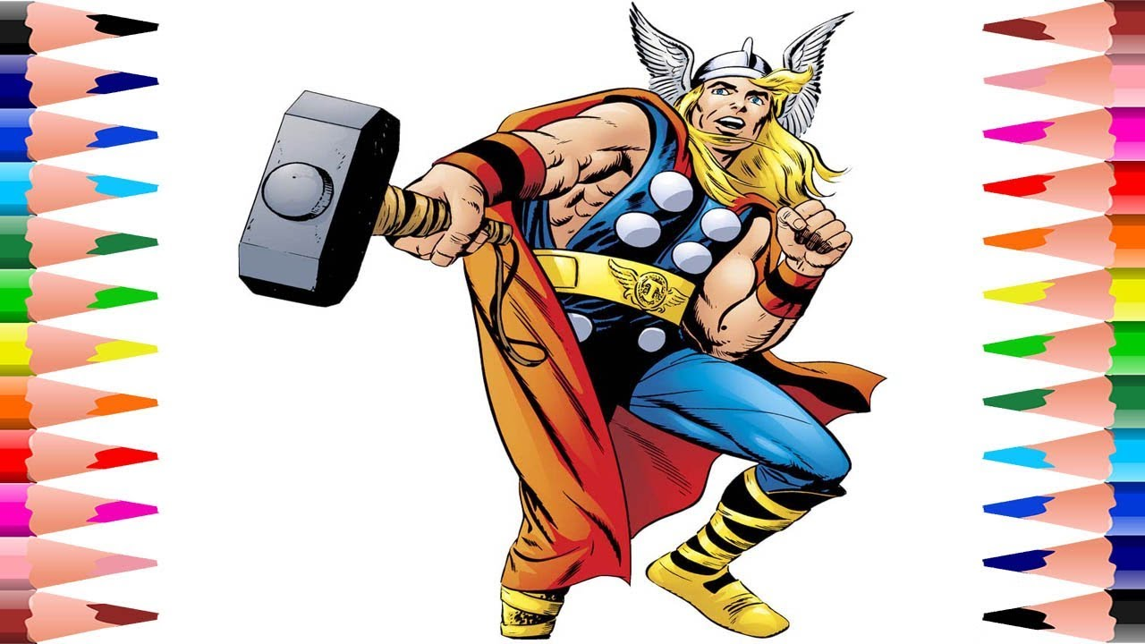 Painting Thor Coloring Pages - Coloring for Kids The Avengers ...