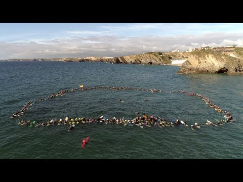 Jack O'Neill Memorial Paddle Out (Newquay, UK)
