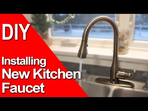 how-to-install-a-new-kitchen-faucet-(motion-single-handle-sprayer)