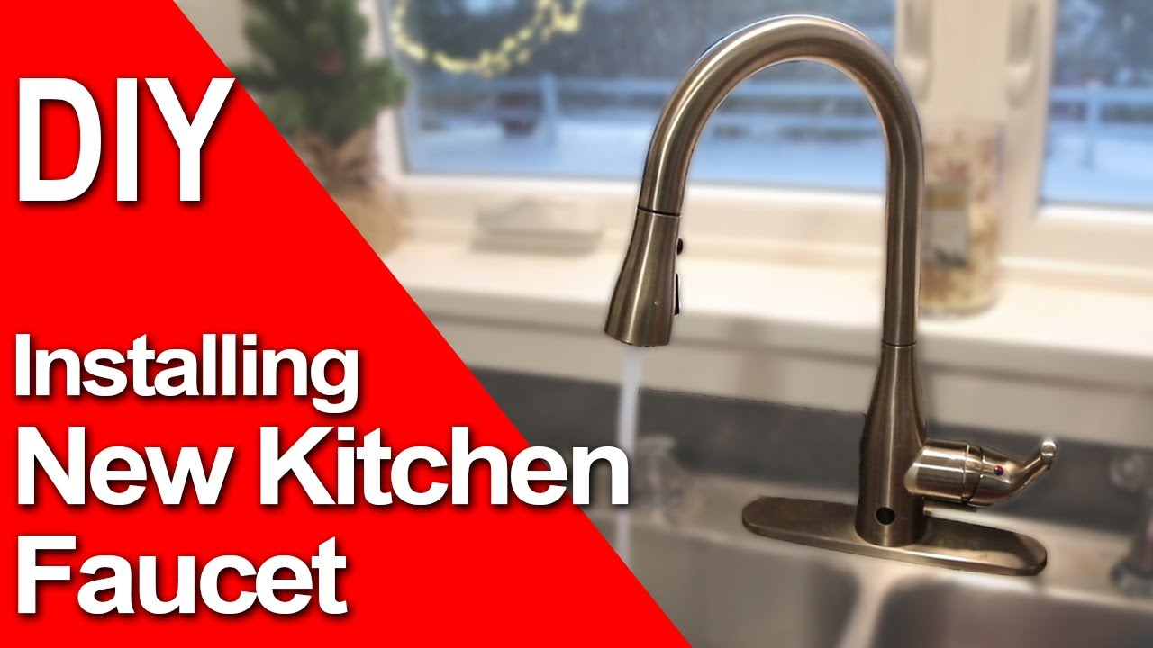 how to install a new kitchen faucet motion single handle sprayer