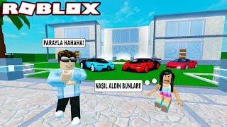 KENDİMİZE PAHALI SÜPER VİLLA YAPTIK VE EFSANE ARABAYI ALDIK! - Roblox Super Mansion Tycoon 2
