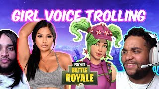 GIRL VOICE TROLLING on FORTNITE w/ Facecam Part 2 (YOUR VOICE IS HYPNOTIZING ME)
