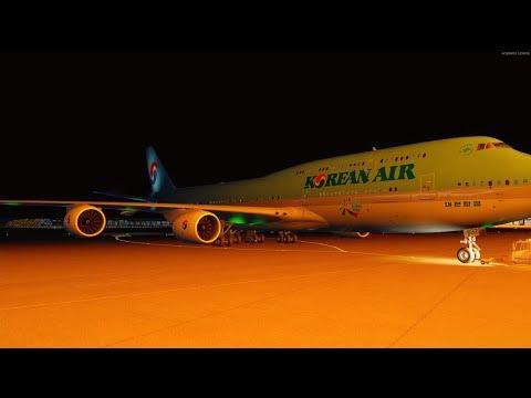 P3D v4 4 PMDG 747-8 Korean air 025 Seoul to San Francisco on vatsim