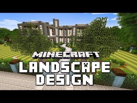 Minecraft tutorial modern garden landscape design ide doovi - Minecraft garden designs ...