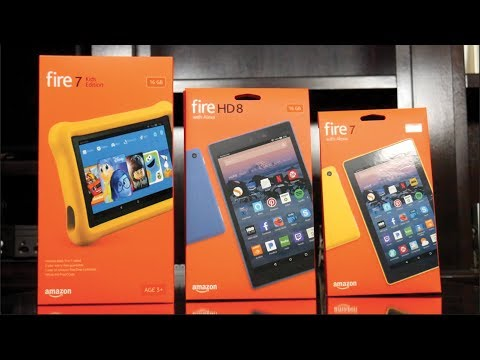New Amazon Fire Tablets With Alexa (2017) Fire 7 vs Fire HD 8 vs Fire Kids Edition